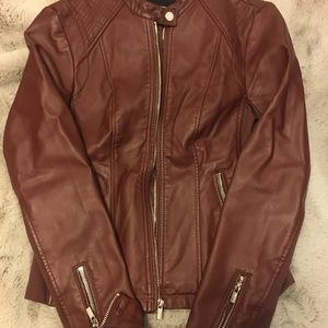 Express Faux Leather Jacket (XS)